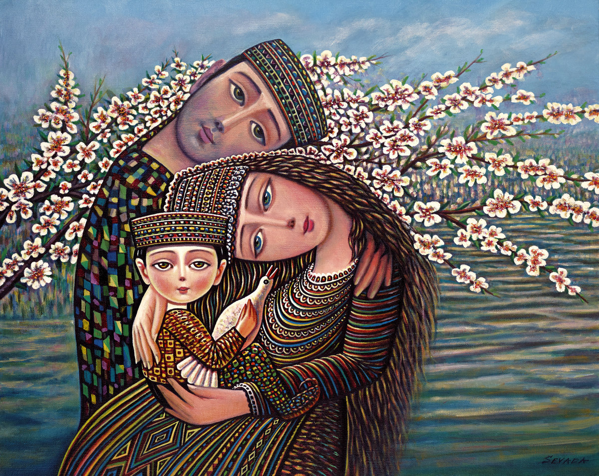 The apricot has blossomed Sevada Grigoryan armenia #artpeople